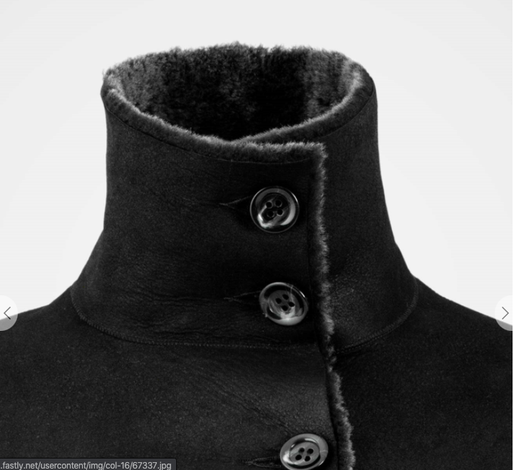 Celtic & Co Sheepskin Box Jacket Charcoal Size UK 10