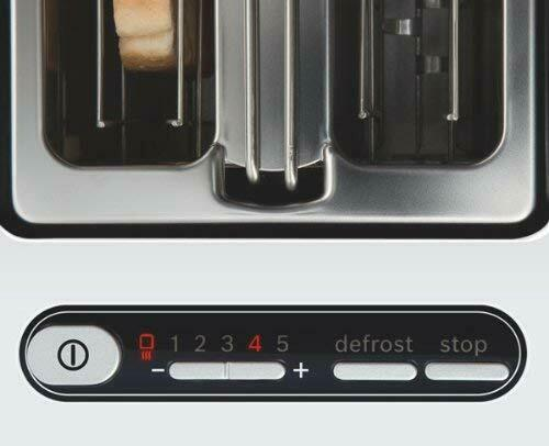 Bosch Styline 2 Slice Toaster TAT8611GB White/Anthracite Latest Version