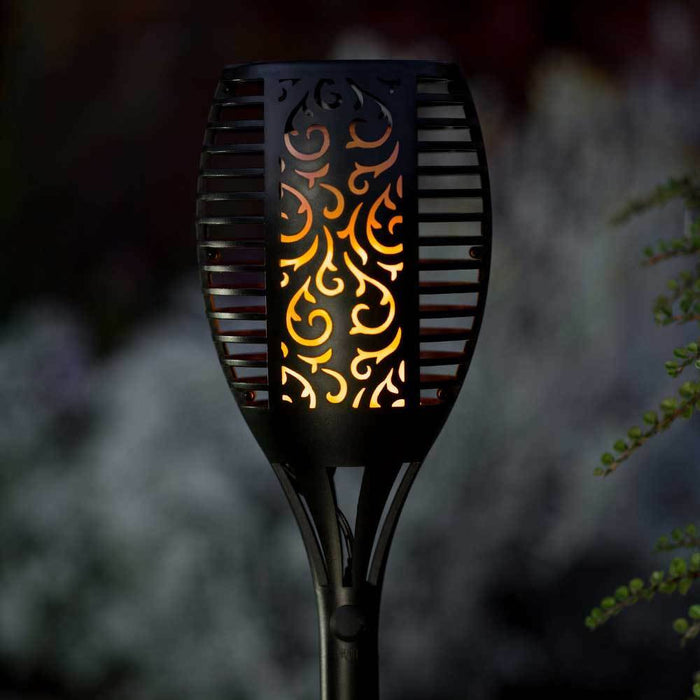 TrueFlame Solar Torch Light With Flickering Flame 2 Pack