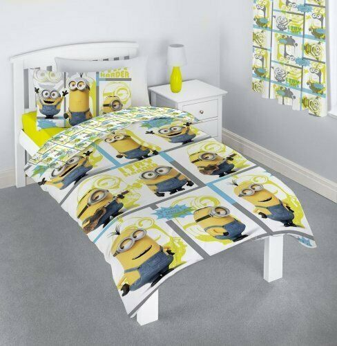 Minions Despicable Me Film Make You Try Harder Rotary Single Duvet Set