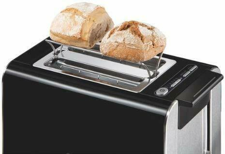 Bosch Styline 2 Slice Toaster TAT8613GB Black/Anthracite Latest Version