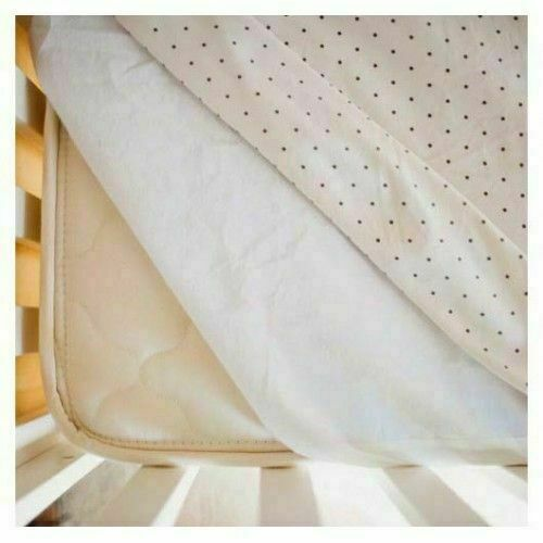 Prince Lionheart Cot Bed Waterproof Mattress Protector 100% Cotton