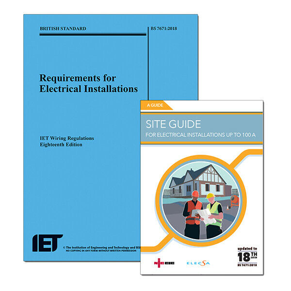 18th Edition Wiring Regulations + Site Guide