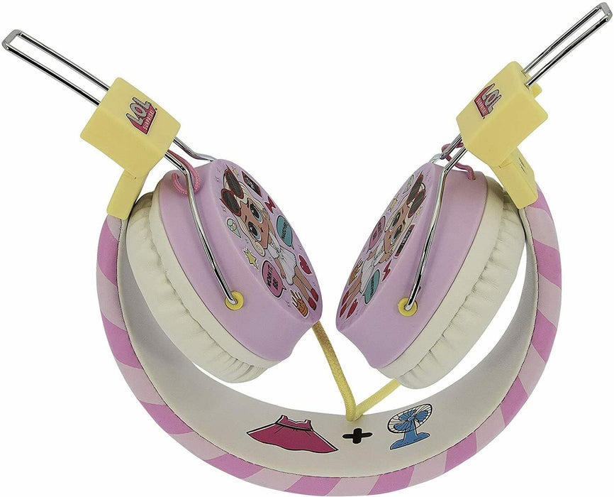 LOL Surprise! Glam Tween Headphones Wirede On-Ear Pink and White