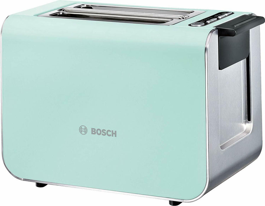 Bosch Styline 2 Slice Toaster TAT8612GB Turquoise/Anthracite Latest Version