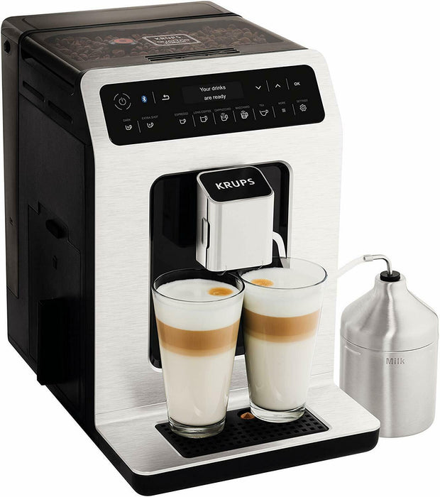 Krups Evidence EA893D40 Automatic Espresso Bean to Cup Coffee Machine, Metal