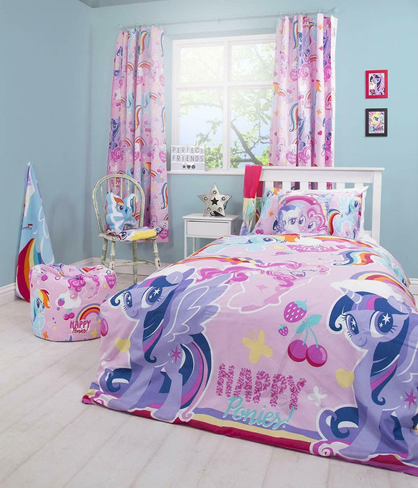My Little Pony Crush Purple Reversible Rotary Single Bed Duvet Quilt Cover Set
