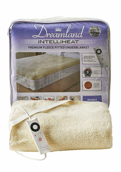 Dreamland 16296 Intelliheat Soft Fleece Underblanket Double