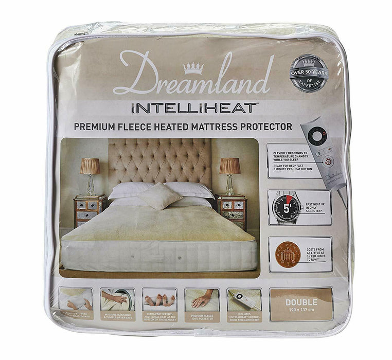 Dreamland 16304 Intelliheat Heated Mattress Protector Blanket Double Bed