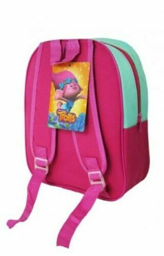 Pink Trolls Poppy Kids Large Arch Backpack Rucksack School Travel Bag AHV-6200