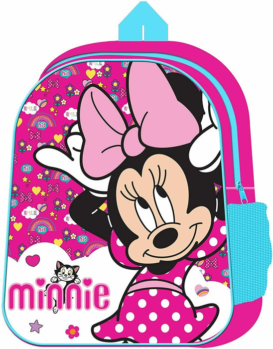 Official Disney Minnie Mouse Pink Bow Character Junior School Back Pack