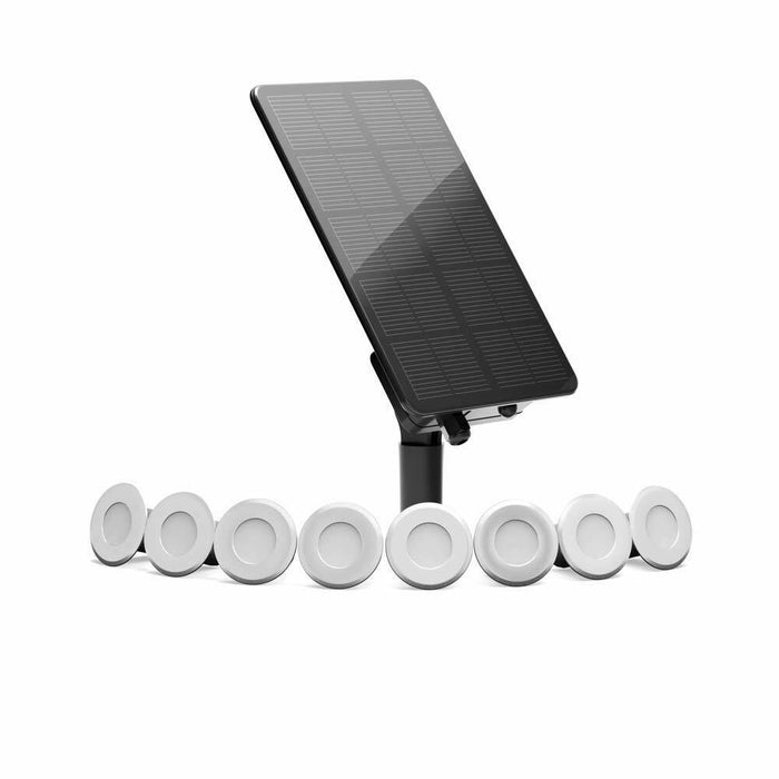 Edinburgh USB Solar Stainless Steel Deck Lights Set Of 8 By The Solar Centre