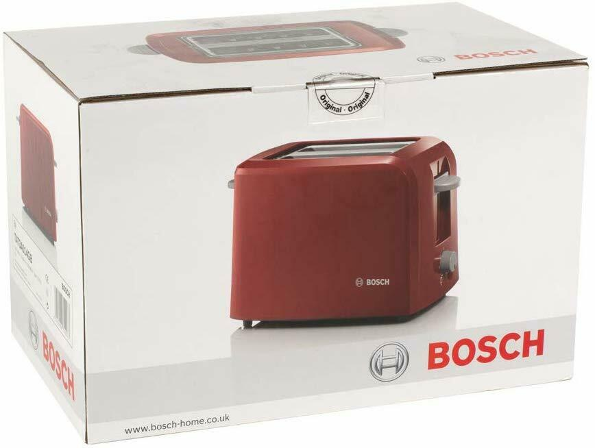 Bosch TAT3A014GB Slice Toaster Red 980W With Variable Browning Control