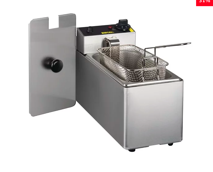 Buffalo Single Tank Single Basket Countertop Fryer 2kW New 2020 Version