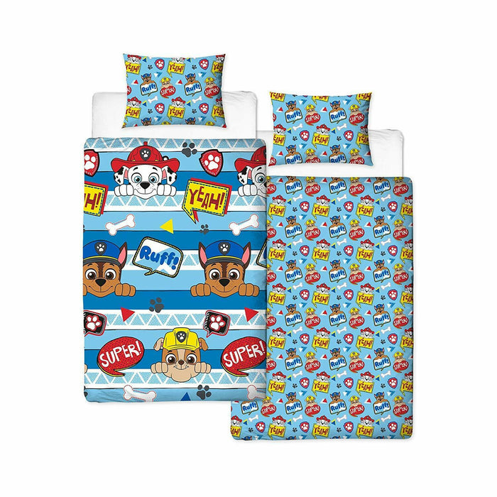 Paw Patrol Peek Single Duvet Cover Set - Reversible Bedding