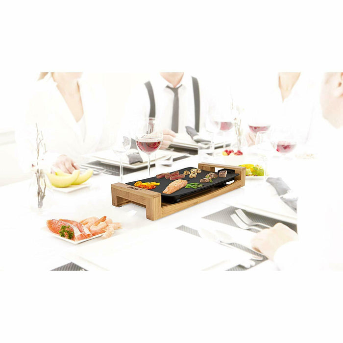 Princess 103010 Table Chef Pure Compact, Bamboo, 1600 W, Black