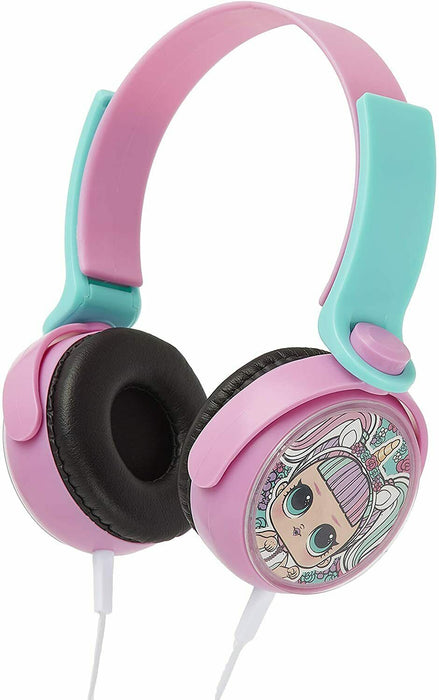 LOL Surprise Kids Headphones With Lol Dolls Omg Unicorn, Over Ear Wired