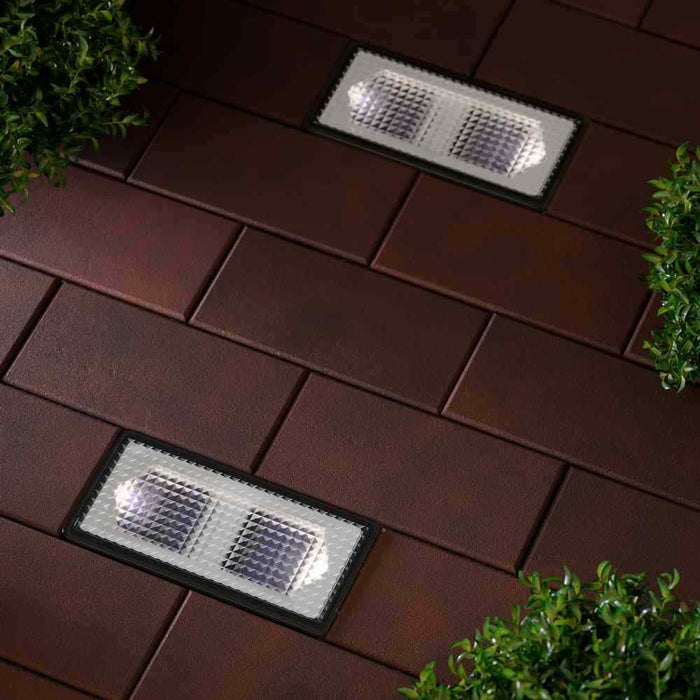 2 Paverlight XT Solar Powered Outdoor Brick Driveway Lights By The Solar Centre