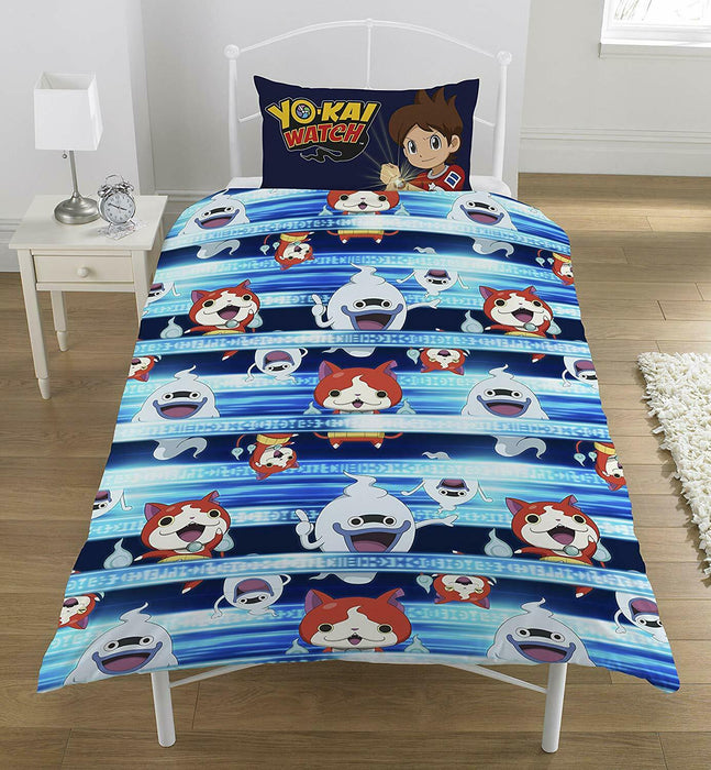 Yo-kai Watch Single Duvet Set, Polyester-Cotton, Multi