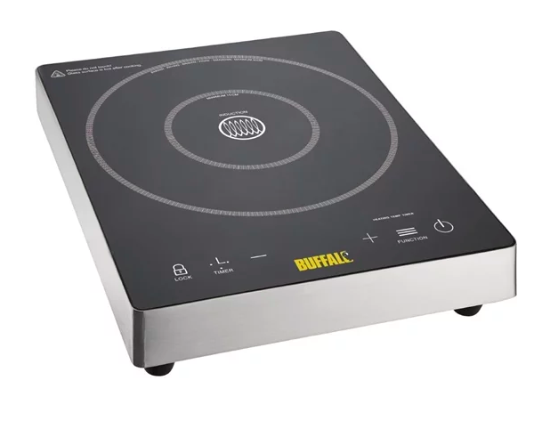 Buffalo Touch Control Single Induction Hob 3kW Ceramic Top DF825 Catering