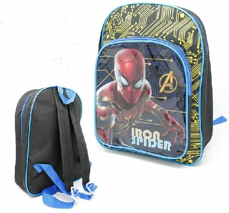 Official Iron Spider Spiderman Character Luggage Deluxe School Bag And Backpack