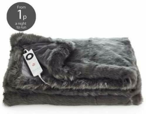 Dreamland 16464 Relaxwell Deluxe Heated Throw Slate Grey