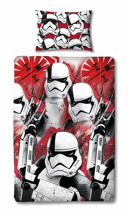 Star Wars The Last Jedi 'Trooper' Single Duvet Cover Bedding Set