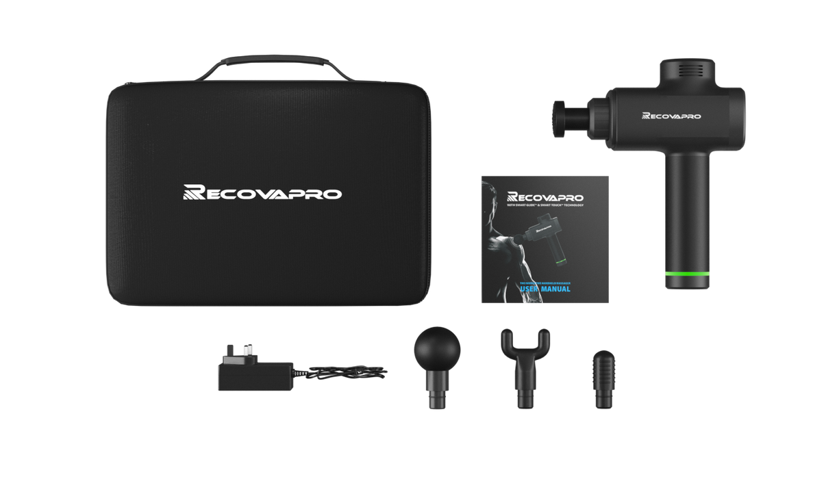 Recovapro Percussion Therapy Device Black Recover Like A Pro