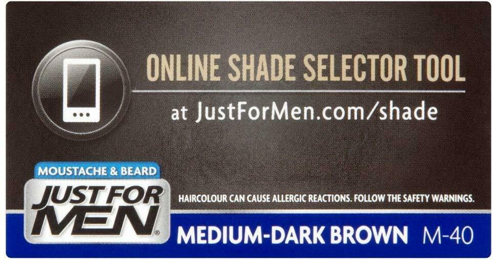 Just For Men Moustache & Beard Medium Dk Brown M40 Discreet Packaging & Listing