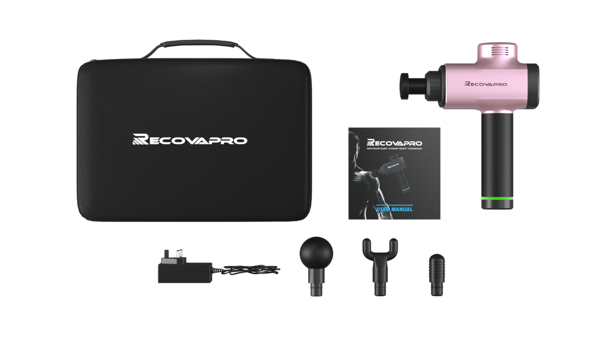 Recovapro Percussion Therapy Device Pink Recover Like A Pro