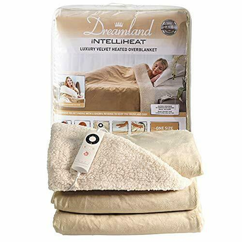 Dreamland 16327 Intelliheat Luxury Champagne Velvet Heated Overblanket