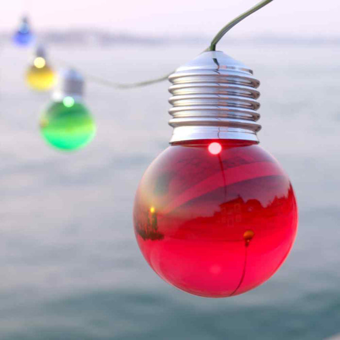 Elan Multicoloured Solar Festoon Lights - 20 LEDs By The Solar Centre