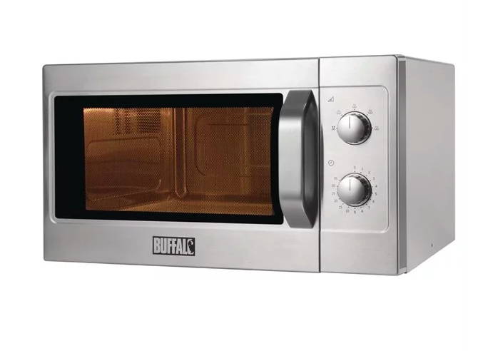 Buffalo Manual Commercial Microwave Oven 1100W 7A 26 Litre Capacity
