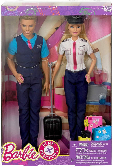 Barbie Pink Passport Pilot Doll And Accessory Set