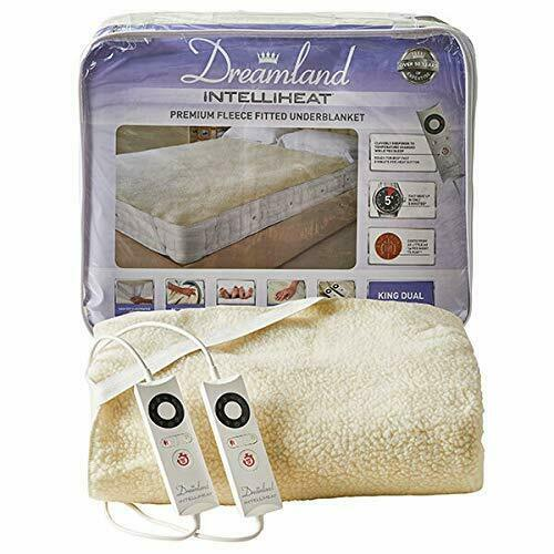 Dreamland 16298 Intelliheat King Size with Dual Control Fleece Heated Blanket