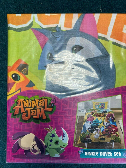 Animal Jam Reversible Single Bed Duvet Quilt Cover Set Brand 2020 Version