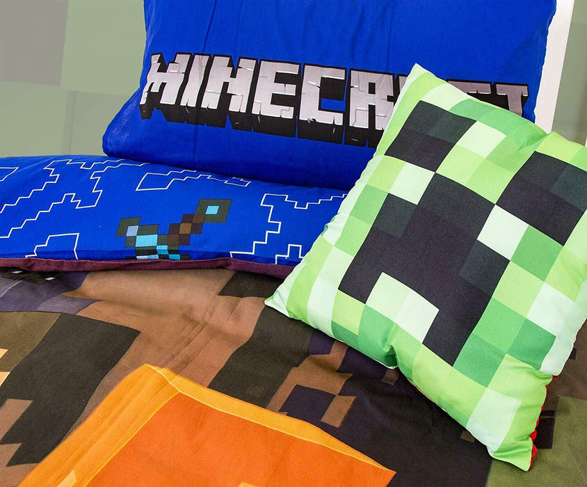 Minecraft Single Panel Duvet Cover Reversible Bedding Set