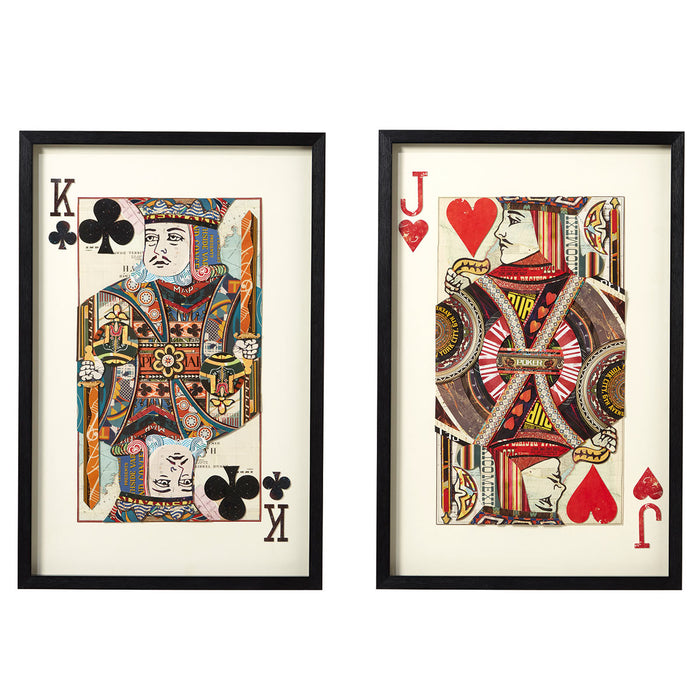Oka Jack of Hearts and King of Clubs Framed Collage Last Of The Last