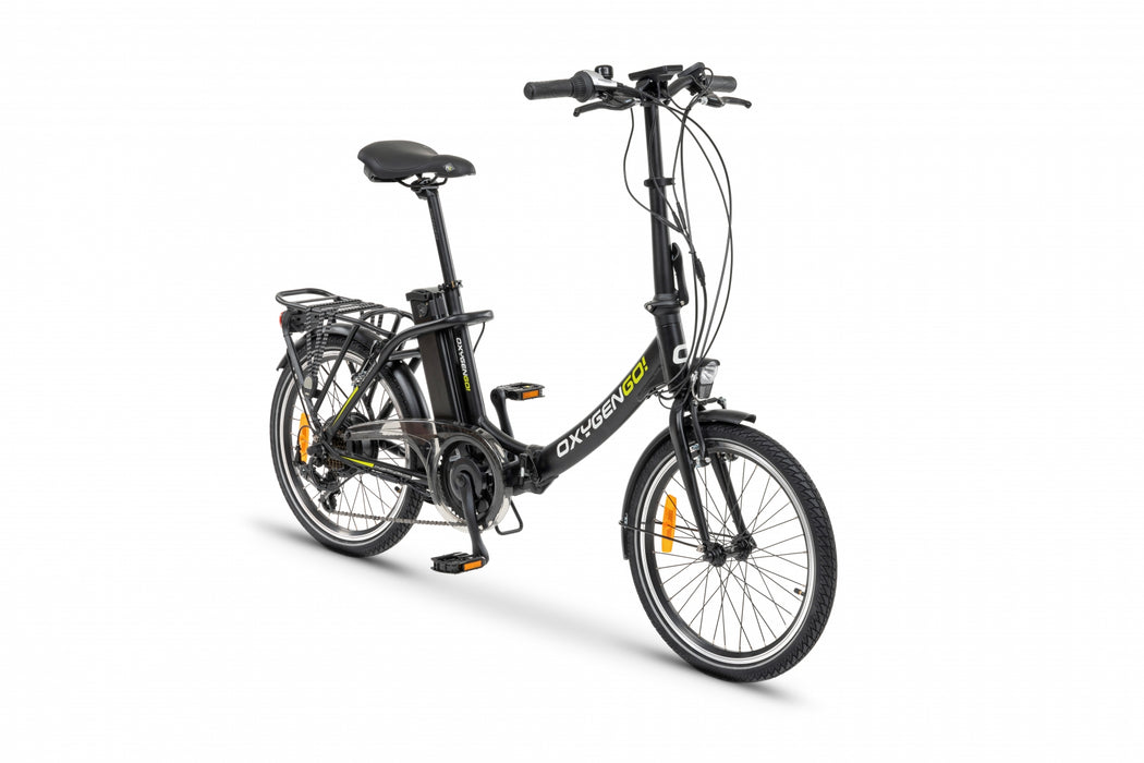Oxygen GO! Foldable Electric Bike Black 2020 Model