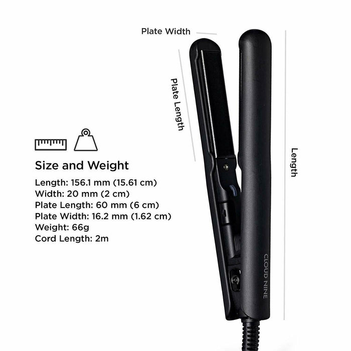 The Cloud Nine Travel Micro Iron Hair Straightener