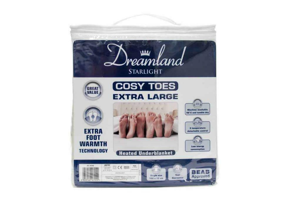 Dreamland 16155 Cosy Toes Extra Large Single Under Blanket 2020 Model