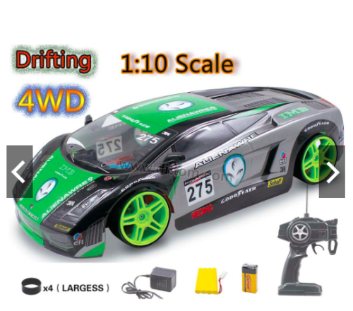 BMW Z4 4WD Drift RC Remote Control Car 1/10 Rechargeable 20 Mph Speed