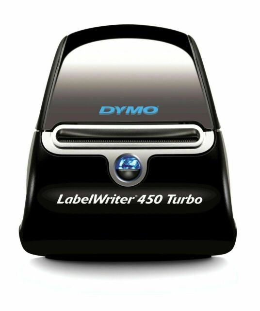 Dymo LabelWriter 450 Turbo Label Maker, Black/Silver