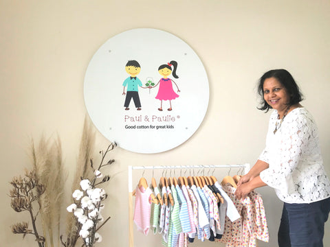designer with organic cotton baby clothes