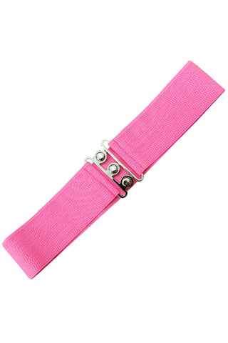 Dancing Days Retro Elasticated 1950s Waspie Belt In Hot Pink; Dancing Days; Waspie Belt; Elasticated Belt; 1950s Style; Hot Pink