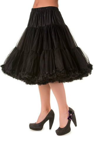 "Dancing Days Lifeforms 50s Style 25""-27"" Long Petticoat In Black; Dancing Days; Lifeforms Petticoat; 50s Style; 25""-27"" Long Petticoat; Black"