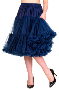 "Dancing Days Lifeforms 50s Style 25""-27"" Long Petticoat In Navy Blue; Dancing Days; Lifeforms Petticoat; 50s Style; 25""-27"" Long Petticoat; Navy Blue"