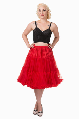 "Dancing Days Lifeforms 50s Style 25""-27"" Long Petticoat In Red; Dancing Days; Lifeforms Petticoat; 50s Style; 25""-27"" Long Petticoat; Red"