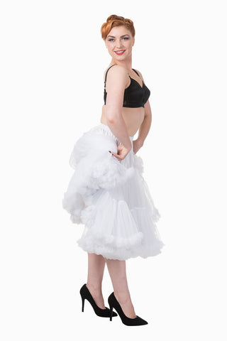 "Dancing Days Lifeforms 50s Style 25""-27"" Long Petticoat In White; Dancing Days; Lifeforms Petticoat; 50s Style; 25""-27"" Long Petticoat; White"