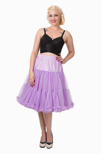 "Dancing Days Lifeforms 50s Style 25""-27"" Long Petticoat In Lavender Purple; Dancing Days; Lifeforms Petticoat; 50s Style; 25""-27"" Long Petticoat; Lavender Purple"